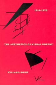 Cover of: The aesthetics of visual poetry, 1914-1928