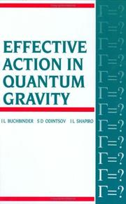 Cover of: Effective action in quantum gravity