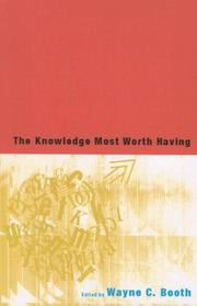 Cover of: The Knowledge Most Worth Having