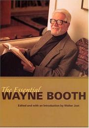 Cover of: The essential Wayne Booth