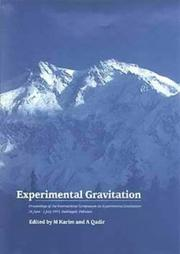 Cover of: Experimental gravitation | International Symposium on Experimental Gravitation (1993 Nathiagali, Pakistan)