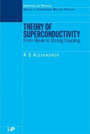 Cover of: Theory of superconductivity