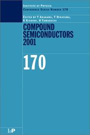 Cover of: Compound Semiconductors 2001 (Institute of Physics Conference Series Number 170) |