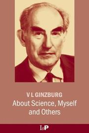 Cover of: About science, myself, and others