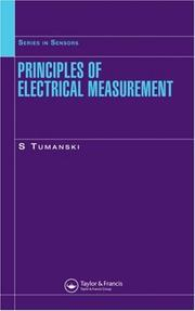Cover of: Principles of electrical measurement | SЕ'awomir TumanМЃski