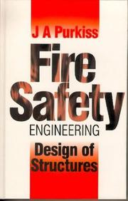 Cover of: Fire safety engineering : design of structures