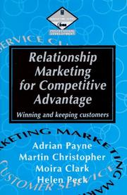 Cover of: Relationship Marketing for Competitive Advantage | Christopher Martin