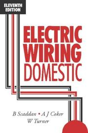 Cover of: Electric wiring: domestic