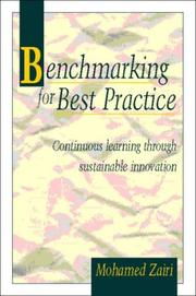 Cover of: Benchmarking for best practice