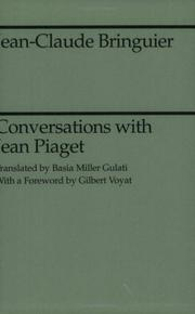 Cover of: Conversations with Jean Piaget
