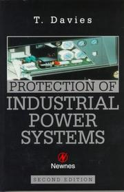 Cover of: Protection of Industrial Power Systems | T. DAVIES