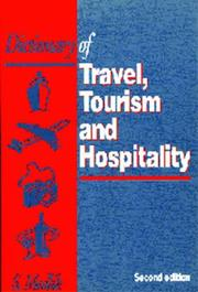Cover of: Dictionary of travel, tourism, and hospitality | Medlik, S.