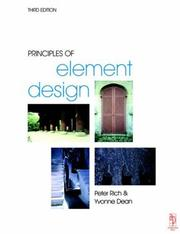 Cover of: Principles of element design