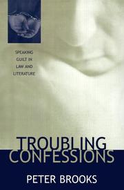 Cover of: Troubling confessions | Peter Brooks