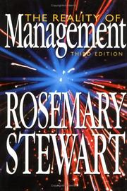 Cover of: The reality of management