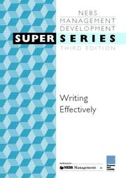 Cover of: Writing effectively
