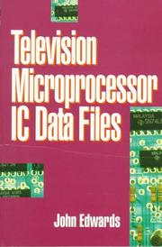 Cover of: Television microprocessor IC data files