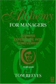Cover of: Alchemy for managers