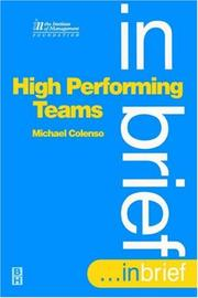 Cover of: High performing teams--in brief