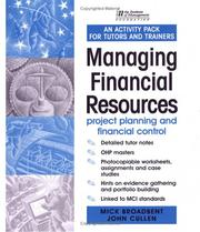 IM Activity Pack: Managing Financial Resources by John Cullen, Mick Broadbent, Margaret Weaver