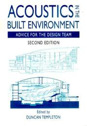 Cover of: Acoustics in the built environment