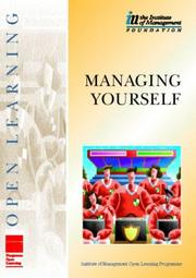 Cover of: Managing yourself