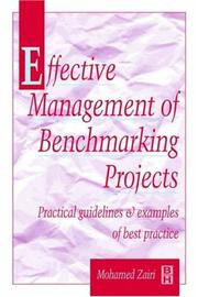 Cover of: Effective management of benchmarking projects