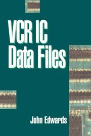 Cover of: VCR IC data files