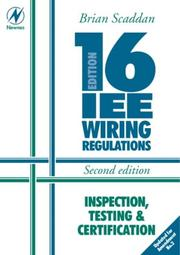 Cover of: 16th Edition IEE Wiring Regulations