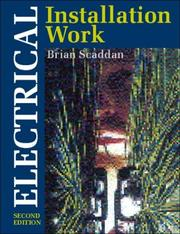 Cover of: Electrical installation work