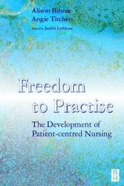 Cover of: Freedom to Practice | Alison Binnie
