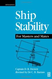 Cover of: Ship Stability for Masters and Mates, Fifth Edition | Capt D R Derrett