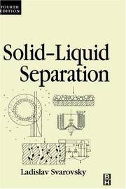 Cover of: Solid-liquid separation |