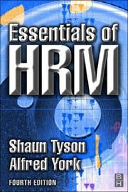 Cover of: Essentials of HRM | S. Tyson