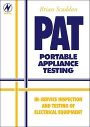 Cover of: PAT: Portable Appliance Testing