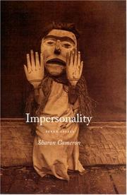 Cover of: Impersonality