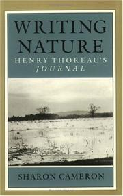 Cover of: Writing nature