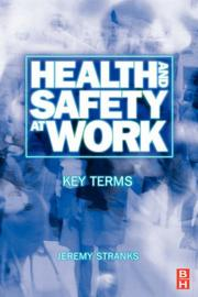 Cover of: Health and Safety at Work | Jeremy Stranks