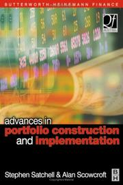 Cover of: Advances in portfolio construction and implementation |