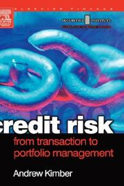 Cover of: Credit Risk | Andrew Kimber