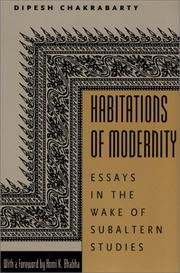 Cover of: Habitations of Modernity