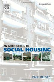 Cover of: An introduction to social housing | Paul Reeves