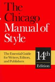 Cover of: The Chicago Manual of Style