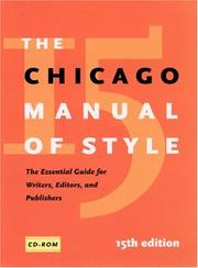 Cover of: The Chicago Manual of Style, 15th Edition