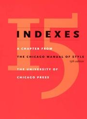 Cover of: Indexes |