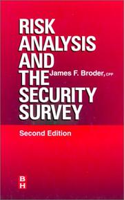 Cover of: Risk analysis and the security survey