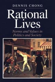Cover of: Rational Lives | Dennis Chong
