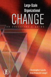 Cover of: Large scale organizational change