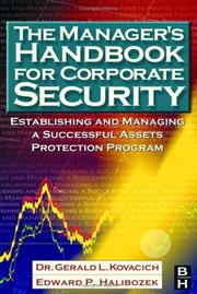 Cover of: The manager's handbook for corporate security