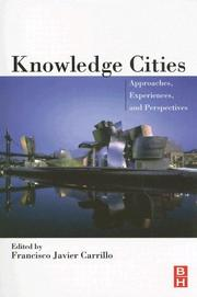 Cover of: Knowledge cities |